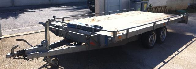 remorque double essieux 4 m